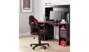 Buy Argos Home Faux <b>Leather</b> Mid Back <b>Gaming Chair</b> | <b>Office</b> chairs