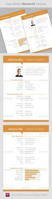 17 best images about print templates corporate id clean modern resume cv indesign template