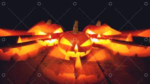 <b>Three</b> Halloween <b>Pumpkins</b> on isolated dark background Image ...