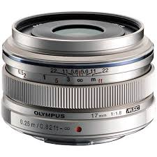 <b>Объектив Olympus</b> M.<b>Zuiko Digital ED 17mm</b> f/1.8, серебро ...
