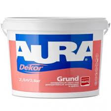 <b>Колеруемый грунт</b> под декоративные штукатурки и краски <b>AURA</b> ...