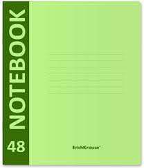 <b>Тетрадь</b> общая <b>ErichKrause Neon</b>, на скобе, A5+, в клетку, 46935 ...