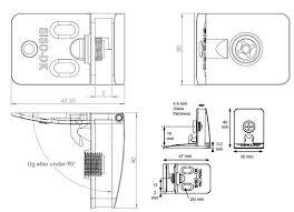 15.06.211-0 Петли SISO для стекла, верх-низ угловой (комплект ...