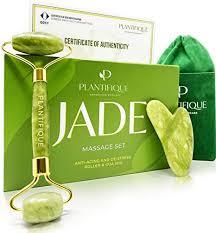 Premium Certified <b>Jade</b> Roller for Skin Care - 100% <b>Natural Jade</b> ...