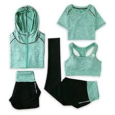 SHOLIND <b>Yoga</b> Suit, <b>Women's</b> 5 Piece Activewear Set, Running Suit ...