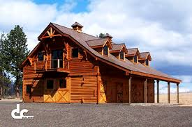 Barns   Living Quarters   Plans  amp  Designs   DC BuildersHorse Barn With Living Space In Pine Hollow  Oregon