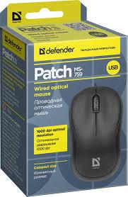 """<b>Проводная</b> оптическая <b>мышь Defender</b> """"<b>Patch</b> MS-759"""", черный, 2 ..."""