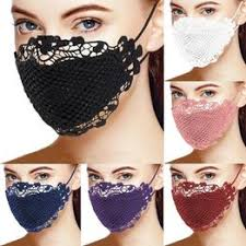 Charming Stylish Brief Solid Lace Mouth Mask Fashion ... - Vova