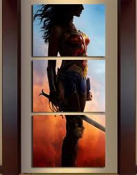 3 Panel Framed <b>Wonder Woman Modern</b> Décor Canvas <b>Wall</b> Art HD ...