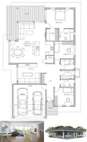 images about Home Plans  Single Story on Pinterest   Small    Modern House Plan to narrow lot  House Plan from ConceptHome com