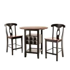 three piece dining set: homesullivan kamerfield  piece black bar table set dpa the home depot