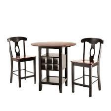 three piece dining set: homesullivan kamerfield  piece black bar table set dpa the home depot