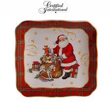 """Десертная <b>тарелка</b> """"<b>Винтажный Санта</b>.Зайчик"""" 15 см, керамика ..."""