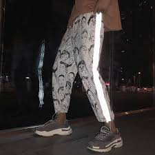 Good Buy <b>HOUZHOU</b> Reflective Harem Gothic Pants Women Hip ...