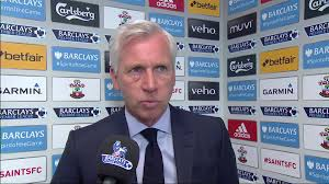 crystal palace boss alan pardew blames refereeing decisions after alan pardew said the referee made two terrible decisions in their 4 1 defeat to