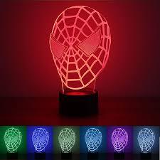 USB Powered Spiderman 3D Night <b>Light LED</b> Desk <b>Lamp Novelty</b> ...
