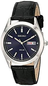 Seiko Men's SNE049 Stainless Steel Solar Watch with ... - Amazon.com