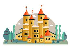 Иллюстрация милого розового вектора замка Иллюстрация ...