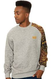 The Sultan Sweatshirt in Speckle Grey by <b>Crooks</b> and <b>Castles</b> use ...