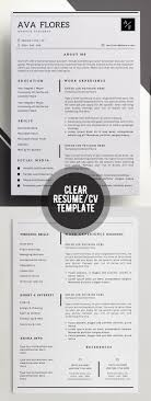 best ideas about professional resume template clear professional resume personal profile contact info social media accounts skills expertise experience achievements