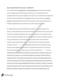 advanced english module a practice essay  king richard iii  year  advanced english module a practice essay  king richard iii