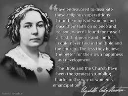 feminism skeptical sunday elizabeth cady stanton 1815 1902 of seneca falls new york feminist