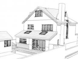 House Extension Plans   Homeplan Designs    extension can be built  out planning permission  HIP TO GABLE ATTIC ROOFLIFT REAR SKETCH VIEW