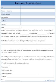 employee termination letter sample misconduct resume writing employee termination letter sample misconduct employee termination letter guide legalzoom employee termination form template