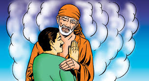 Image result for images of shirdi sai baba putting hand on woman