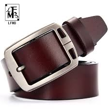 <b>LFMBleather Belt Men Male</b> Genuine <b>Leather</b> Strap Luxury Pin ...