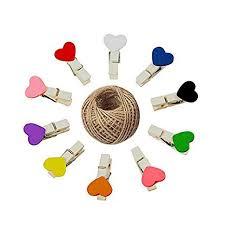 KINGLAKE 100 Pcs Mini Colored Wooden Heart ... - Amazon.com