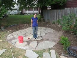 stone patio installation: flagstone  flagstone