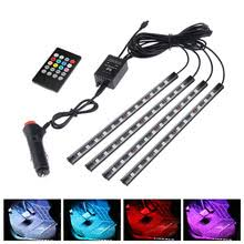 Niscarda <b>LED Car Foot Light</b> Ambient Lamp With APP Remote Box ...