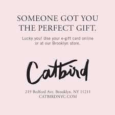 electronic gift certificate catbird electronic gift certificate