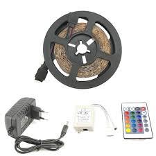 SMD 2835 LED RGB <b>Strip</b> Kit 5 M 60leds/M + 24key IR Remote ...