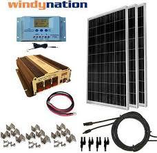 COMPLETE <b>KIT 300 W Watt 300W</b> Solar Panel + 1500W Inverter ...