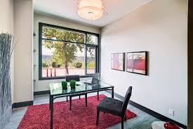 image credit new west group of companies black shag rug home office