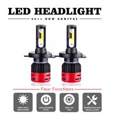 LED Lights 2X <b>CREE COB H4 HB2</b> 9003 72W 8000LM LED ...