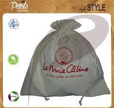 Cotton <b>Drawstring Bag</b> With <b>Custom Design Embroidery</b> Logo for ...