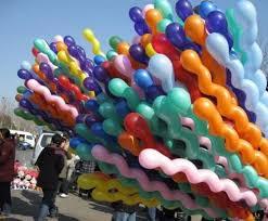 Latex Spiral Shaped <b>Screw Balloon Twist Balloon</b> 7 <b>Ball</b> ...