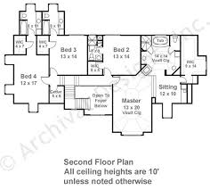 Dahlworth House Plans   Home Plans By Archival DesignsDahlworth House Plan   House Plan   Daylight Basement   Second Floor Plan