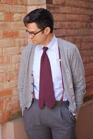 business casual men s attire dress code explained gentleman s business casual mens by hogtownrake cardigan madder inspired tie that extends beyond the waistband suspenders and vintage watch