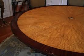 7ft dining table: american made satinwood and mahogany dining table with windrose inlay