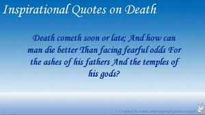 Inspirational Quotes on Death - YouTube