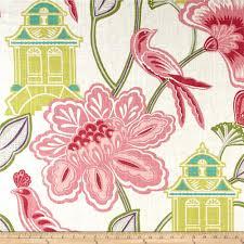 decor linen fabric multiuse: braemore emperors garden linen blend blossom