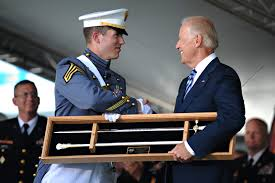 u s department of defense photo essay vice president joe biden receives the west point cadets sword from cadet maxwell love as