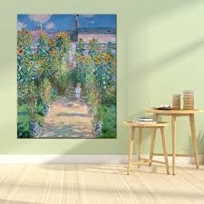 <b>Weite Monet Garden Canvas</b> Painting Claude Monet Famous ...