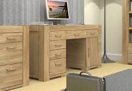 image 2 showing the atlas chunky oak collection of office furniture from baumhaus atlas chunky oak hidden home office