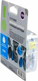 <b>Картридж Cactus CS-LC1000C</b>, голубой, для струйного принтера