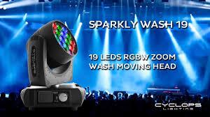 Sparkly <b>Wash</b> 19 - 19x15 Watts RGBW LED <b>Zoom Wash moving</b> head